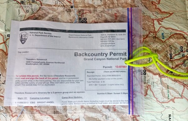 How to Get a Grand Canyon Rim to Rim Permit