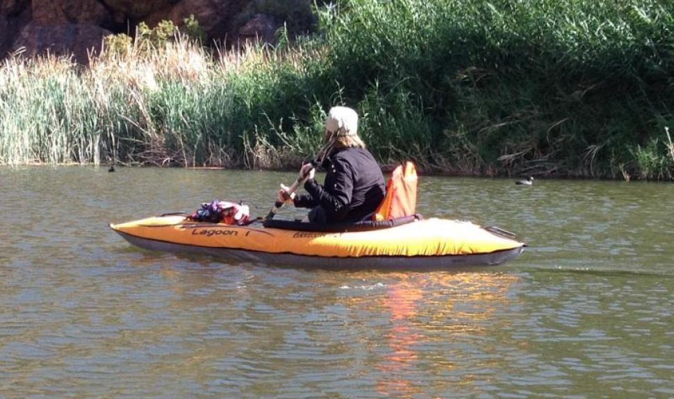 Kayaking on Canyon Lake outside of Phoenix, Arizona